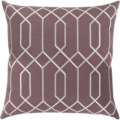 Kaivhon Geometric Linen Throw Pillow Size: 22 H x 22 W x 4 D, Color: Eggplant