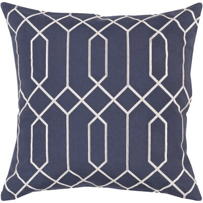 Kaivhon Geometric Linen Throw Pillow Size: 18 H x 18 W x 4 D, Color: Slate