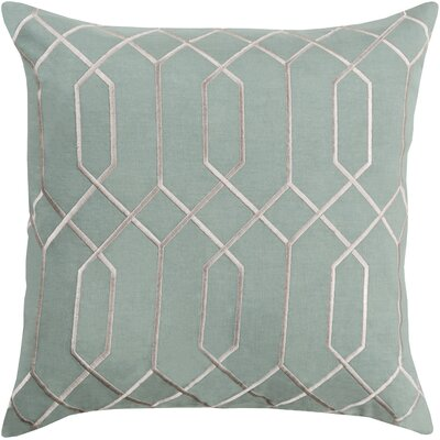 Kaivhon Geometric Linen Throw Pillow Size: 22 H x 22 W x 4 D, Color: Moss