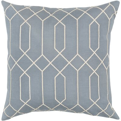 Kaivhon Geometric Linen Throw Pillow Size: 22 H x 22 W x 4 D, Color: Blue
