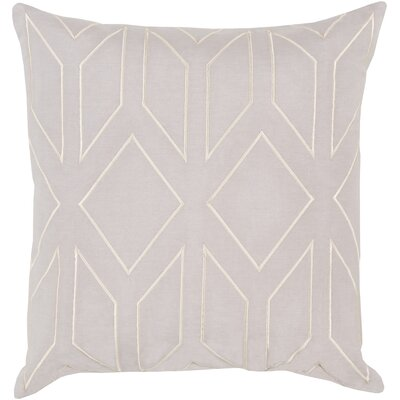Honiton Linen Throw Pillow Color: Light Gray, Size: 20 H x 20 W x 4 D