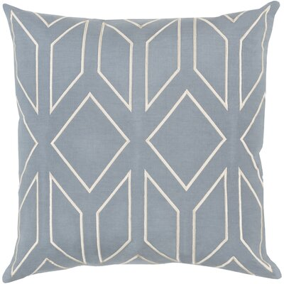 Honiton Linen Throw Pillow Size: 20 H x 20 W x 4 D, Color: Blue