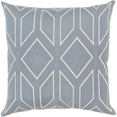 Honiton Linen Throw Pillow Size: 18 H x 18 W x 4 D, Color: Blue