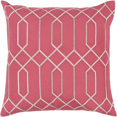Kaivhon Linen Throw Pillow Size: 20 H x 20 W x 4 D, Color: Carnation