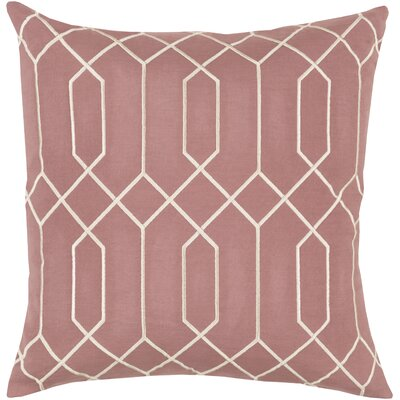Kaivhon Linen Throw Pillow Size: 18 H x 18 W x 4 D, Color: Rust