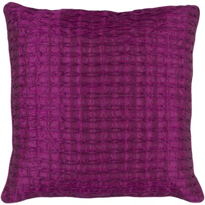 Gaetano Throw Pillow Size: 18 H x 18 W x 4 D, Color: Eggplant