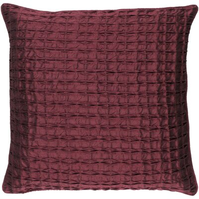 Theodore Throw Pillow Size: 20 H x 20 W x 5 D, Color: Burgundy