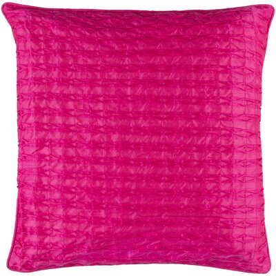 Theodore Throw Pillow Size: 22 H x 22 W x 5 D, Color: Hot Pink