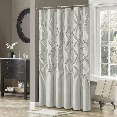 Benjamin Shower Curtain Color: Grey, Size: 72 H x 72 W