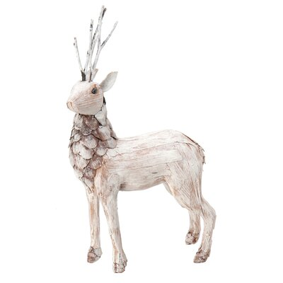 Standing Pine Deer Holiday Accent
