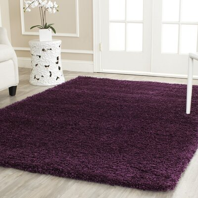 Ampthill Shag Purple Area Rug Rug Size: Square 6'7
