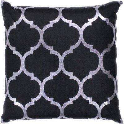 Zellers Indoor/Outdoor Trellis Throw Pillow Color: Black