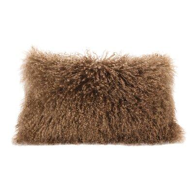 Valmont Lamb Fur Lumbar Throw Pillow Color: Natural