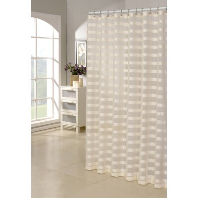Sarcoline Shower Curtain Color: Ivory