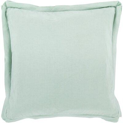 Cornesse Down Cotton Throw Pillow Size: 18 H x 18 W x 4 D, Color: Orange