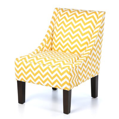 Caine Upholstered Arm Chair Upholstery: Zig Zag Yellow Slub