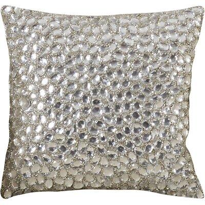 Adalwine Jewel Beads and SIlk Dupioni Lumbar Pillow Size: 10 H x 10 W, Color: Diamond