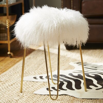 Crediton Sheepskin Stool Color: White