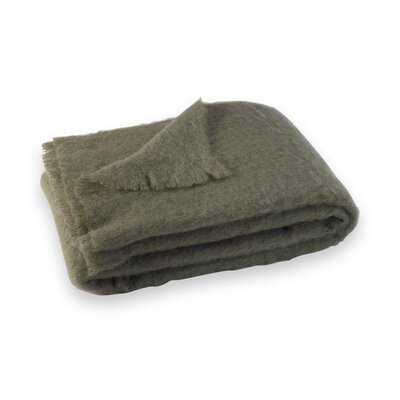 St Helens Brushed Mohair Throw Color: Ashwood Brown