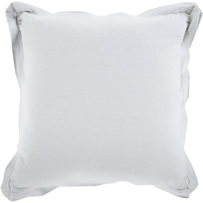 Anastagio Polyester Cotton Throw Pillow Size: 20 H x 20 W x 4 D, Color: Light Gray