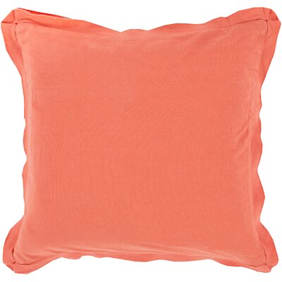 Cornesse Polyester Cotton Throw Pillow Size: 18 H x 18 W x 4 D, Color: Coral
