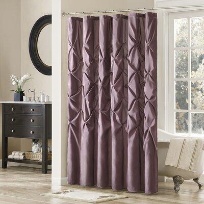 Ashton-under-Lyne Shower Curtain Color: Plum