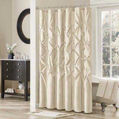 Ashton-under-Lyne Shower Curtain Color: Ivory
