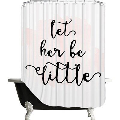 Bismuth Let Her Be Little Watercolor Shower Curtain Color: Pink