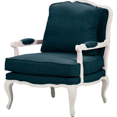 Loughborough Antoinette Arm Chair Upholstery: Azure