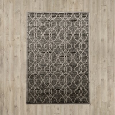 Belper Gray Area Rug Rug Size: Rectangle 8 x 11