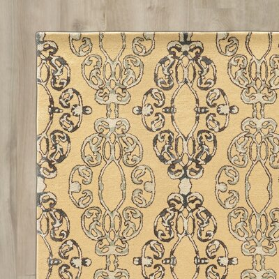 Cheshunt Hand-Tufted Beige/Gray Area Rug Rug Size: Rectangle 5 x 8