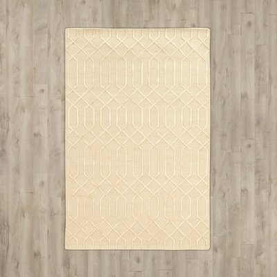 Brandt Hand-Tufted Beige Area Rug Rug Size: Rectangle 5 x 8