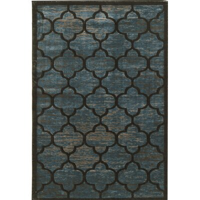 Belper Blue/Gray Area Rug Rug Size: Rectangle 8 x 11