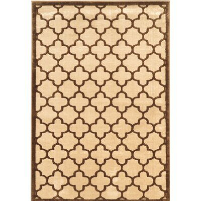 Belper Brown/Beige Area Rug Rug Size: Rectangle 8 x 11