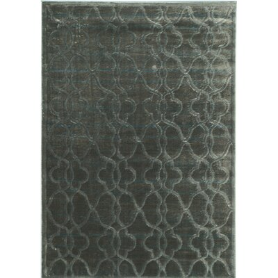 Belper Blue/Black Area Rug Rug Size: 2 x 3