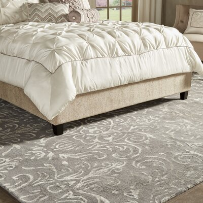Cheshunt Hand-Tufted Gray Area Rug Rug Size: 5 x 8