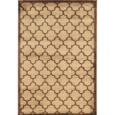 Belper Beige/Brown Area Rug Rug Size: 8 x 11