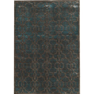 Beeston Blue/Brown Area Rug Rug Size: Rectangle 5 x 76