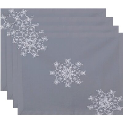 Falling Snow Geometric Print Placemat Color: Gray