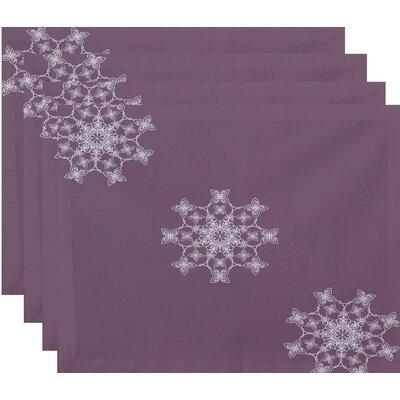 Falling Snow Geometric Print Placemat Color: Lavender