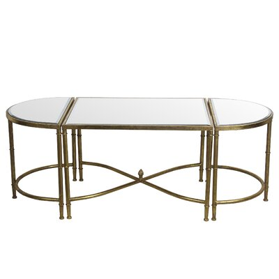 Gofried 3 Piece Coffee Table Set Finish: Gold Leaf