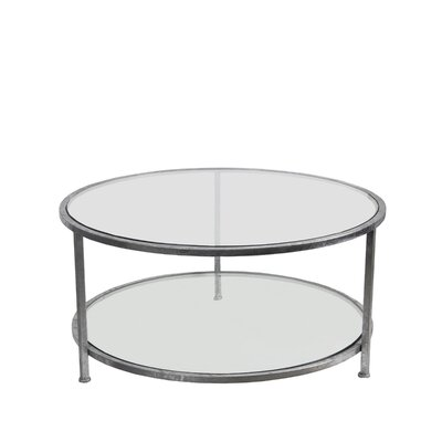 Benigna Coffee Table with Magazine Rack Base Color: Silver Leaf