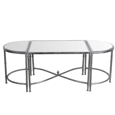 Gofried 3 Piece Coffee Table Set Finish: Silver Leaf