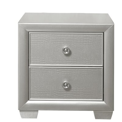 Brinkworth 2 Drawer Nightstand