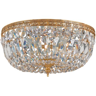 Coblenz 3-Light Flush Mount Finish: Older Brass