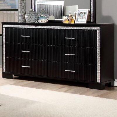Viridian 6 Drawer Combo Dresser