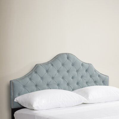 Lily Pond Upholstered Panel Headboard Size: King