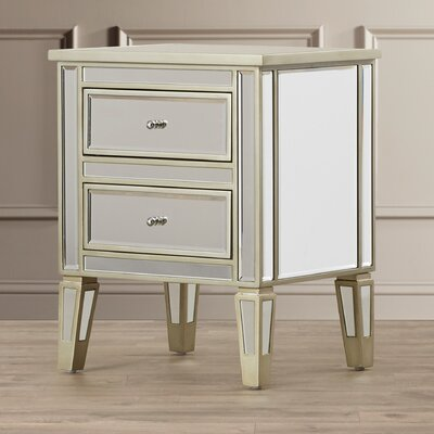 Margate Mirrored 2 Drawer End Table