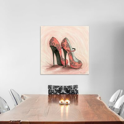 Glitterati Carlita Shoes by Bella Pilar Painting Print on Wrapped Canvas Size: 26