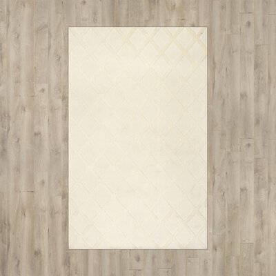 Kubik Ivory Area Rug Rug Size: Rectangle 76 x 96
